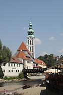 St. Jost Church by the river in Cesky Krumlov, Czech Republic.