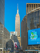 The Empire State Building stand talll in Manhattan, New York City.