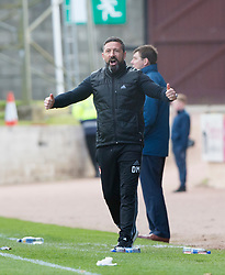 Aberdeen manager Derek McInnes near the end. St Johnstone 1 v 2 Aberdeen. SPFL Ladbrokes Premiership game played 15/4/2017 at St Johnstone's home ground, McDiarmid Park.