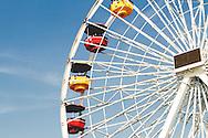 Close-up of a Ferris Wheel in California.