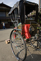 Rickshaw have made a big comeback in Japan, especially around traditional places such as Takayama, though it is more for a photo opportunity than for real transportation.  Nowadays rickshaws are pulled by Japanese university students as a part-time job, rather than a blue-collar job for the hoi polloi.