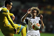 Swansea city's Jose Canas in action. UEFA Europa league match , Swansea city v Napoli at the Liberty Stadium in Swansea, South Wales on Thursday 20th Feb 2014. pic by Andrew Orchard, Andrew Orchard sports photography.
