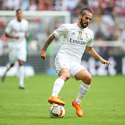 04.08.2015, Allianz Arena, Muenchen, GER, AUDI CUP, Real Madrid vs Tottenham Hotspur, im Bild Isco ( (Real Madrid CF #22) // during the 2015 Audi Cup Match between Real Madrid and Tottenham Hotspur at the Allianz Arena in Muenchen, Germany on 2015/08/04. EXPA Pictures © 2015, PhotoCredit: EXPA/ Eibner-Pressefoto/ Schueler<br /> <br /> *****ATTENTION - OUT of GER*****