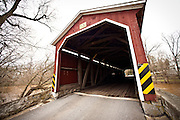 Amish built Pinetown Covered Bridge Upper Leacock Township, PA