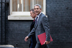 © Licensed to London News Pictures. 19/12/2018. London, UK. Stephen Barclay, Secretary of State for Exiting the European Union, arrives in Downing Street. Photo credit : Tom Nicholson/LNP