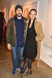 12 December 2019 - Charlotte Carroll and Diego Bivero-Volpe at a private view of Lethe by Henrik Uldalen at JD Malat Gallery. 30 Davies Street, London.<br /> <br /> Photo by Dominic O'Neill/Desmond O'Neill Features Ltd.  +44(0)1306 731608  www.donfeatures.com