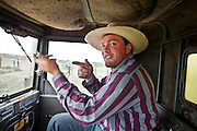 """Running a wagon. Cowboy life at and around the Spanish Ranch, near Elko in Nevada. These cowboys run a wagon every year for a couple of months: taking a motorized wagon several hours away from the ranch, to set up camp and watch over their cattle during summer...A 4-weeks road trip across the USA, from New York to San Francisco, on the steps of Jack Kerouac's famous book """"On the Road"""".  Focusing on nomadic America: people that live on the move across the US, out of ideology or for work reasons."""