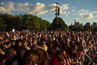 Concert-goers fill the Great Lawn at the Global Citizen's Festival in New York's Central Park. <br /> <br /> <br /> The free, ticketed event is part of the Global Citizen platform, a social media and live-event campaign. Musicians and celebrities join dignitaries and philanthropists to urge world leaders to act towards ending extreme poverty by 2030. Free tickets were earned by fans who logged on to www.globalfestival.com to learn and share content about four main themes: education, women's equality, global health and global partnerships.<br /> <br /> (Photo by Robert Caplin) 2013 Global Citizen's Festival. <br /> <br /> Photo ©Robert Caplin
