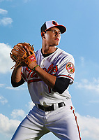 Baltimore Orioles Manny Machado poses for a portrait in Orioles Park<br /> (Photo/Tom DiPace)