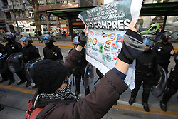 August 3, 2017 - Buenos Aires, Buenos Aires, Argentina - Pepsico workers are protesting the closure of the factory and the dismissal of employees. Workers claim to the Ministry of Labor the reincorporation of the dismissed. (Credit Image: © Claudio Santisteban via ZUMA Wire)