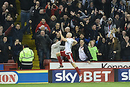 Sheffield United forward, on loan from Derby County, Conor Sammon celebrates scoring goal to go 2-0 up  during the Sky Bet League 1 match between Sheffield Utd and Bradford City at Bramall Lane, Sheffield, England on 28 December 2015. Photo by Ian Lyall.