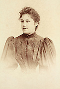 vintage studio portrait of young adult woman