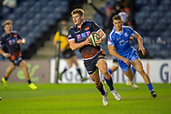 James Johnstone (#13) of Edinburgh Rugby scores his second try for Edinburgh during the Guinness Pro 14 2018_19 match between Edinburgh Rugby and Dragons Rugby at BT Murrayfield Stadium, Edinburgh, Scotland on 15 February 2019.