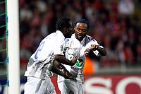 FOOTBALL - UEFA CHAMPIONS LEAGUE 2011/2012 - GROUP STAGE - GROUP B - LILLE OSC v CSKA MOSCOW - 14/09/2011 - PHOTO CHRISTOPHE ELISE / DPPI - SEYDOU DOUMBIA (CSKA MOSCOW), SILVA VAGNER LOVE (CSKA MOSCOW)