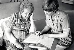 Staff nurse & patient, City Hospital, Nottingham UK 1991