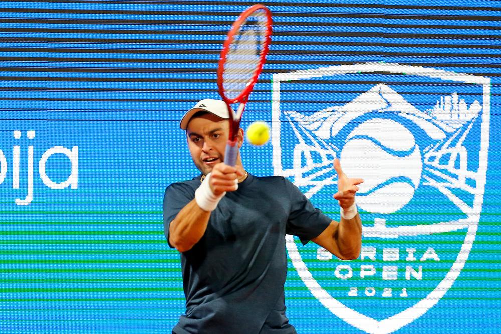 Tennis-ATP Serbia Open Belgrade 2021-<br /> Aslan Karatsev (RUS) v Aljaz Bedene (SLO)<br /> Beograd, 22.04.2021.foto: Marko Djokovic/Starsportphoto ©