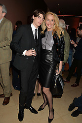 SASCHA BAILEY and JERRY HALL at a private view of photographs by David Bailey entitled 'Bailey's Stardust' at the National Portrait Gallery, St.Martin's Place, London on 3rd February 2014.