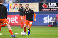 Luton town player Elliot Lee warms up before the game during the EFL Sky Bet League 1 match between Luton Town and AFC Wimbledon at Kenilworth Road, Luton, England on 23 April 2019.