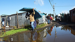 South Africa - Cape Town - 14 July 2020 - Gift of the Givers donated 300 blankets and mattresses to the people of Kanana informal Settlement i Guguletu.This was aftyer a heavy storm that flooded their shacks.One of the mos effected is a 70 year old Thandeka Thunyisa who hs been living in a shack since she started voting in 1994,she has ased for a house numerous times and such conditions are facing her every year.Picture:Phando Jikelo/African News Agency(ANA)