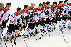 Team Canada after ice-hockey game Canada vs Finland at Qualifying round Group F of IIHF WC 2008 in Halifax, on May 12, 2008 in Metro Center, Halifax, Nova Scotia, Canada. Canada won 6:3. (Photo by Vid Ponikvar / Sportal Images)