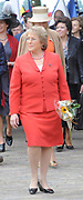 State Visit of the presidentof Chili , Michelle Bachelet to the Netherlands.<br /> <br /> On the photo Presedent of Chili, Michelle Bachelet, arrive At the Castle of Doorwerth to have a lunch