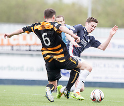 Alloa Athletic's Darren Young and Falkirk's Conor McGrandles.<br /> Falkirk 3 v 1 Alloa Athletic, Scottish Championship game played today at The Falkirk Stadium.<br /> © Michael Schofield.