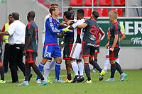 BILDET INNGÅR IKKE I NOEN FASTAVTALER. ALL NEDLASTING BLIR FAKTURERT.<br /> <br /> Fotball<br /> Tyskland<br /> Foto: imago/Digitalsport<br /> NORWAY ONLY<br /> <br /> 1. Bundesliga - Fußball - Testspiel - FC Ingolstadt 04 - Celta De Vigo - Spielabbruch - Streit eskaliert zwischen Almog Cohen (36, FCI) und Castro Johatan (19). danach Spielabbruch. Tomas Pekhart (11, FCI) Torwart Ørjan Håskjold Nyland (26, FCI) Elias Kachunga (25, FCI) 1. BL - FC Ingolstadt 04 Saison 2015/2016 Testspiel