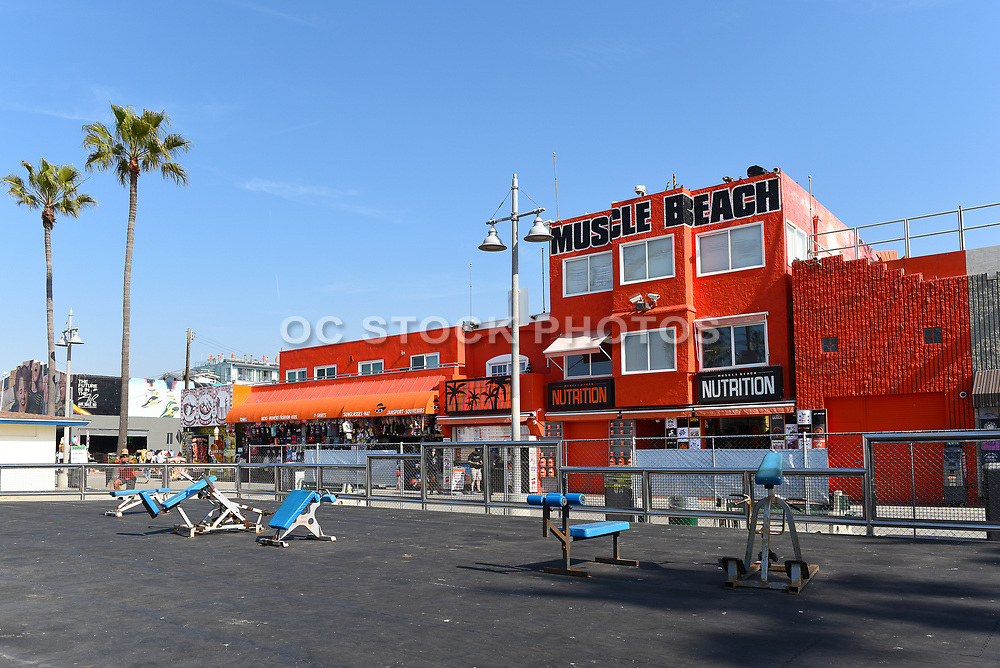 Muscle Beach Outdoor Gym at Ocean Front Walk in Venice Beach