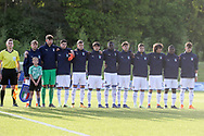 Italy singing the national anthem during the UEFA European Under 17 Championship 2018 match between Israel and Italy at St George's Park National Football Centre, Burton-Upon-Trent, United Kingdom on 10 May 2018. Picture by Mick Haynes.