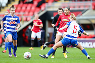 Reading defender Molly Bartrip (5) controls the ball during the FA Women's Super League match between Manchester United Women and Reading LFC at Leigh Sports Village, Leigh, United Kingdom on 7 February 2021.
