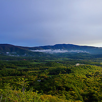 """""""Fading Light in the Shenandoah""""<br /> <br /> As day starts to come to an end. Light fades over the rolling mountains and valleys of Shenandoah National Park!!<br /> <br /> The Blue Ridge Mountains by Rachel Cohen"""
