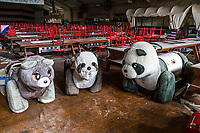 Western Village Haikyo, Abandoned Stuffed Animals - <br /> Japan is a country associated with serene temples, exquisite gardens and cherry blossoms.  It is the last place you'd expect to a Wild West theme park.  Perhaps that is why it officially closed down to the public in 2007, but is still popular with explorers who still go there and try to imagine what it was like to travel back in time to the American Wild West for the afternoon amidst all the rubble, saloons and fading attractions.  It now more closely resembles a horror movie movie set, but never mind.  The place is fascinating on so many levels, that if visitors happen to be in the Nikko area, it is definitely a must, at least get a gander of the replica Mount Rushmore mountain as the train passes by.  If you dare to enter (it is officially off limits but has easy access) you may be either creeped out by all the dishevelment and weeds or you may find yourself fascinated.  It's at your own risk, but true aficionados of haikyo, abandoned buildings and theme parks will be unable to resist.