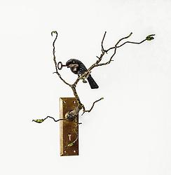 Unique artistic assemblages with bird theme. DESIGN STOCK PHOTO