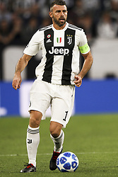 October 2, 2018 - Turin, Italy - Juventus defender Andrea Barzagli (15) in action during the Uefa Champions League Group Stage football match n.2 JUVENTUS - YOUNG BOYS on 02/10/2018 at the Allianz Stadium in Turin, Italy. (Credit Image: © Matteo Bottanelli/NurPhoto/ZUMA Press)