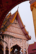 12 MARCH 2009 -- VIENTIANE, LAOS:  A Buddhist temple in Vientiane, Laos. Photo By Jack Kurtz