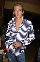 JACOBI ANSTRUTHER-GOUGH-CALTHORPE at a dinner hosted by Ayesha Makim and leading stylist Mohieb Dahabieh to celebrate the forthcoming London Fashion Week held at the exotic restaurant Levant, 76 Wigmore Street, London W1 on 8th September 2005.<br />