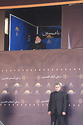 Hezbollah (or Hezbollah) leader Hassan Nasrallah delivers a speech to mark 'Ashura' celebration in the southern suburb of Beirut, Lebanon, on October 12, 2016. Ashura (or Achoura) is the 10th day of the day of Muharram in the Islamic calendar. For shiite Muslims, it marks the death of Hussein ibn Ali, the grandson of Propher Muhammad at the Battle of Karbala in 680. Photo by Balkis Press/ABACAPRESS.COM