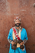 A street performer in the medina of Fes, Morocco