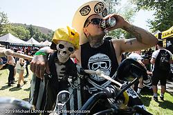 Invited Builder Mark Atkins (Rusty Butcher) at the Born Free chopper show. Silverado, CA. USA. Saturday June 23, 2018. Photography ©2018 Michael Lichter.