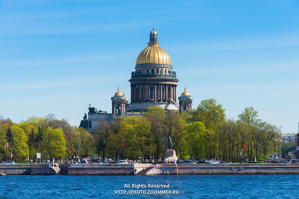 Saint Isaak's Orthodox Cathedral in Saint Petersburg, Russia