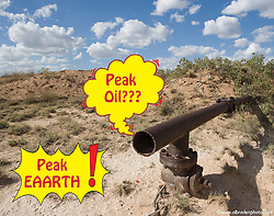 Oil runs out in this New Mexico pipeliine.
