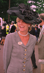 MRS SALLY FABER former wife of the MP David Faber, at Royal Ascot on 18th June 1998.MIN 100