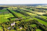 Nederland, Utrecht, gemeente Wijk bij Duurstede, 30-09-2015; landschap ten Westen van Langbroek. Het coulissenlandschap langs de Langbroekerwetering. Ontstaan door de ontginning van het oorsprpnkelijke moerassige gebied. Kasteel Sterkenburg.<br /> Scenic landscape, result of the reclamation of the original marsh lands.<br /> luchtfoto (toeslag op standard tarieven);<br /> aerial photo (additional fee required);<br /> copyright foto/photo Siebe Swart
