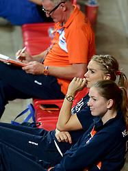01-10-2014 ITA: World Championship Volleyball Servie - Nederland, Verona<br /> Nederland verliest met 3-0 van Servie en is kansloos voor plaatsing final 6 / Kirsten Knip, Carlijn Jans