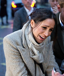 Prince Harry's fiancee Meghan Markle speaks with well wishers as they leave Reprezent 107.3FM radio station in Brixton, London. Picture dated: Tuesday January 9, 2018. Photo credit should read: Isabel Infantes / EMPICS Entertainment.