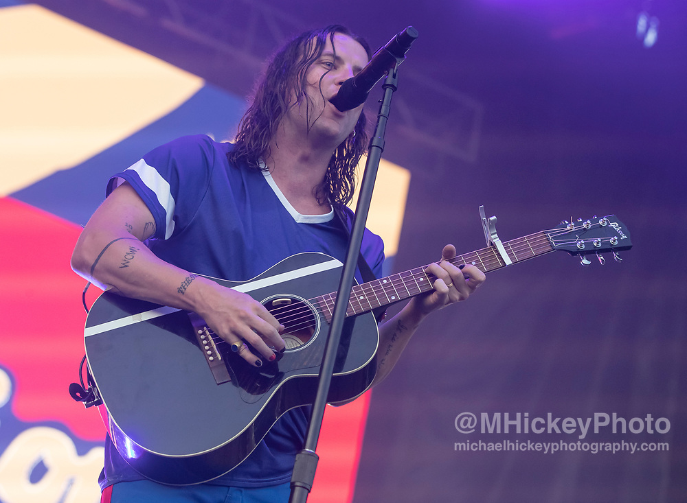 CHICAGO, IL - AUGUST 03: Judah Akers of Judah and the Lion performs on day three of Lollapalooza at Grant Park on August 3, 2019 in Chicago, Illinois. (Photo by Michael Hickey/Getty Images) *** Local Caption *** Judah Akers