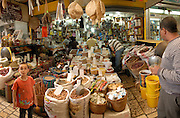 Israel, western Galilee, Acre, the market in the narrow alleyway of the old city