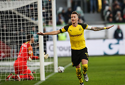 WOLFSBURG, Nov. 4, 2018  Dortmund's Marco Reus (R) celebrates during a German Bundesliga match between VfL Wolfsburg and Borussia Dortmund in Wolfsburg, Germany, on Nov. 3, 2018. Dortmund won 1-0. (Credit Image: © Xinhua via ZUMA Wire)