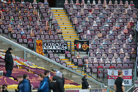 A general view of empty seats inside Valley Parade, home of Bradford City<br /> <br /> Photographer Alex Dodd/CameraSport<br /> <br /> The EFL Sky Bet League Two - Bradford City v Bolton Wanderers - Saturday 6th March 2021 - Valley Parade - Bradford<br /> <br /> World Copyright © 2021 CameraSport. All rights reserved. 43 Linden Ave. Countesthorpe. Leicester. England. LE8 5PG - Tel: +44 (0) 116 277 4147 - admin@camerasport.com - www.camerasport.com