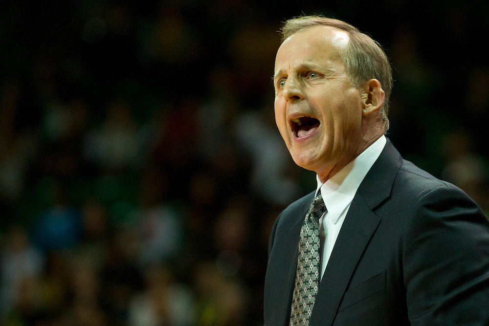 WACO, TX - JANUARY 25: Texas Longhorns head coach Rick Barnes looks on against the Baylor Bears on January 25, 2014 at the Ferrell Center in Waco, Texas.  (Photo by Cooper Neill/Getty Images) *** Local Caption *** Rick Barnes